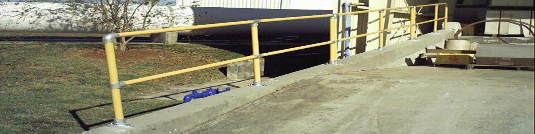 工厂楼梯扶手栏杆与斜坡护栏