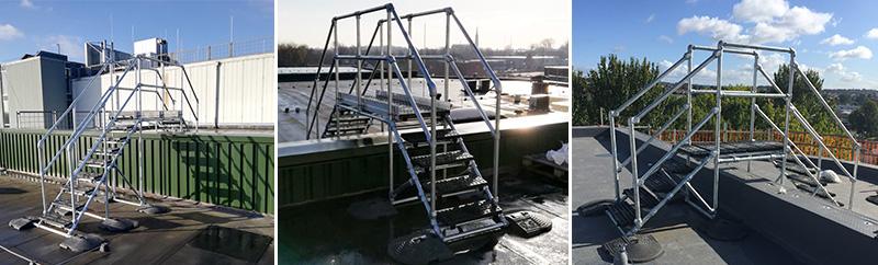 自立式管道过桥梯系统